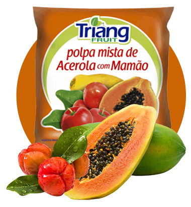 Polpa de Fruta Acerola com Mamão