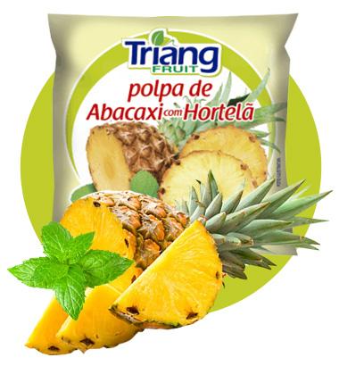 Polpa de Fruta Abacaxi com Hortelã